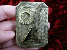 (m308-a1) Jackson Randy Rhoads mini BLK guitar brass pin pendant I love guitars