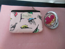Primrose Hill of London COSMETIC Bag + gorgeous Butterfly Mirror Compact