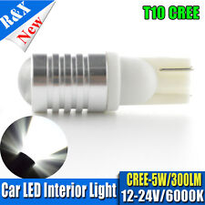 1x W5W 5W CREE LED 12-24V 6000k Projector T10 Wedge Side Light Bulbs Car Globes