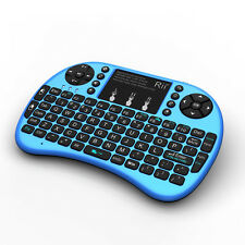 Genuine Rii keyboard wireless rii mini i8+ blue for smart TV PC with Illuminated