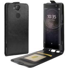 Funda con tapa negro Premium para Sony Xperia XA2 Cubierta de la caja de sobres