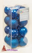 Decoración Árbol Navidad - 50mm Azul Medianoche Adornos - 16 Irrompible Adornos