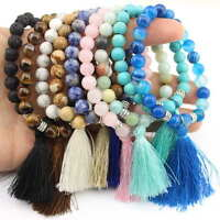 Handmade Natural Stone Beaded with Tassel Women Bracelets Jewelry Accessories