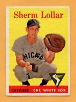 1958 Topps Baseball Card #267 Sherm Lollar -- White Sox  (Vg-Ex)