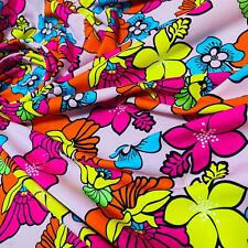 Best seller Neon colors hawaii tropical print Nylon Lycra