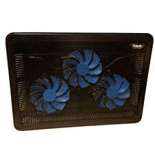 """HAVIC Cooling Pad 3 Fans USB - Up To 17"""" inch Laptops Black With Blue Lights"""