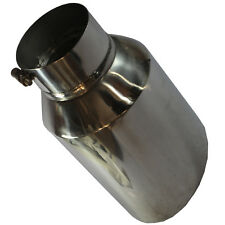 """Chrome Diesel Exhaust Tip Stainless Steel 15"""" Long Bolt On 8"""" Outlet / 5"""" Inlet"""
