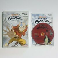 Nintendo WII Pal Game AVATAR THE LEGEND OF AANG with Box Manual