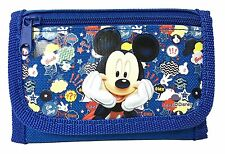 NEW DISNEY MICKEY MOUSE KID TRI-FOLD WALLET BLUE COLOR ORIGINAL LICENSED CUTE