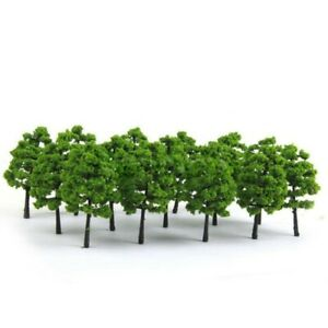 Model Trees - 7cm High, Green Pack Of 20 - Railway Architecture