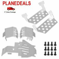 1 set stainless steel CHASSIS guard plates rc car TRAXXAS  Bronco Defender TRX-4