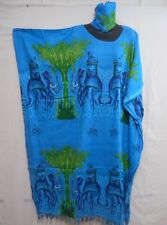 Women Long Dashiki African Caftan Dress Hippy House Outfit  Gown Plus size blue