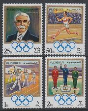 Fujeira 1970 ** Mi.529/32 A Olympische Spiele Olympic Games Coubertin IOC