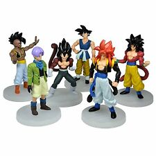 "Dragon Ball AF 6x 5"" Figures Set: Super Saiyan 5 Goku Son Vegeta Trunks Uub NEW"