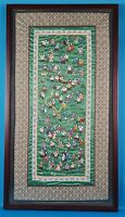 Vintage Chinese Hundred Children Play Embroidered Silk Tapestry Well Framed