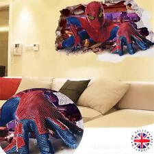 3d Adesivo Parete Spiderman in Vinile ARTE Camera Da Letto Casa Poster Marvel Avengers ironman