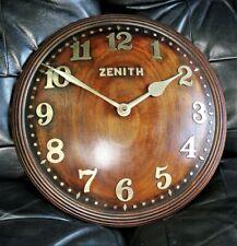 Superbe horloge murale ZENITH Convexe années 30 swiss clock