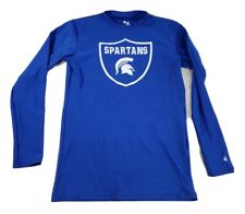 Badger Sport Mens Long Sleeve Athletic Shirt Size Large Blue Spartans