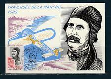 carte  1er jour  avion traversée de la Manche Louis Blériot 59 Cambrai   1972