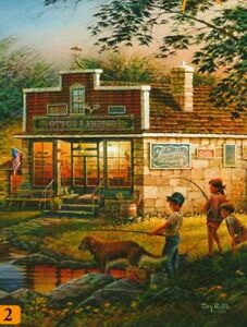 """Terry Redlin """"SUMMERTIME"""" Fishing Store 100 Pieces BOXLESS Jigsaw Puzzle *NEW*"""