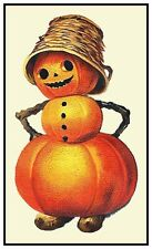 Halloween Clappsaddle Scene # 438 Pumpkin Person Counted Cross Stitch Pattern