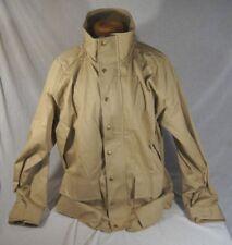 Woolrich Classic Men's Tan Parka Style Lined Coat Zip Button Sz Large 5830 46780