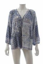 Joie 'Sonoma' Patchwork Paisley Silk Blouse / Blue / RRP: $278.00