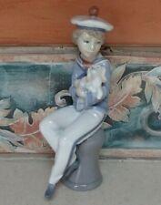 "Lladro 6196 ""Seaside Companion"" young sailor boy with puppy dog - Mwob, Rv$450"