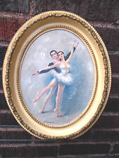 "Vintage-Beautiful Ballerina ""Gina"" Art Picture Framed Art Print"