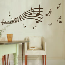 Home Decor Wall Sticker Art Decal Music Note Removable Wallpaper Mural Black