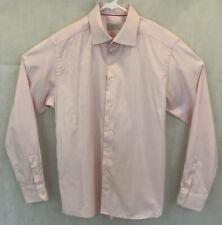 ETON Men's Size 40 15.75 Slim Fit Formal Pink Dress Shirt Striped Work