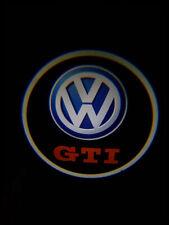 KIT LUCI LED COMPATIBILI VW GTI LOGO PROIETTORE A BATTERIA SENSORE MAGNETE **