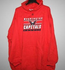 Majestic NHL Washington Capitals Hooded Sweatshirt New Big Mens 4X