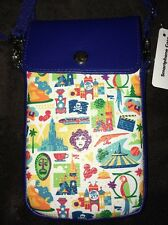 Disney IPHONE Magic Kingdom Icons Crossbody Wristlet Phone Case FITS ALL IPHONES