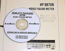HP 8970B Noise Figure Meter Ops-Service Manuals (2 vol)