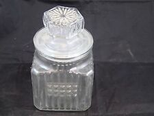 "KOEZE'S Drugstore Glass Apothecary/Candy Jar/Canister 7 1/2"" tall 4 1/2"" wide"