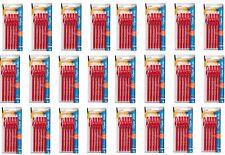 New 120 Paper Mate Eraser Mate Red Ink Eraseble Pen Medium Point 1.00 mm 24 Pack