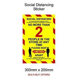 Social Distancing Window Wall Door Sticker 2m Sign Keep your Distance Vinyl