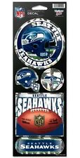 SEATTLE SEAHAWKS PRISMATIC HOLOGRAPH STICKER DECAL SHEET OF 5 NFL FOOTBALL