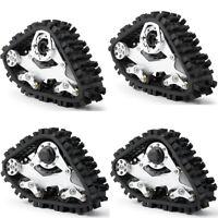2 Pair Snow Tracks Wheels for 1/10 RC Axial SCX10 Wraith Rock Crawler Car Truck