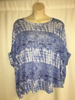 Lane Bryant Blue Dolman Blouse Womens Plus Size 14/16  18/20  22/24  26/28 NWOT