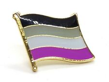 Enamel Pin Badge Asexual Ace Pride Wavy Flag Gold Plated  LGBTQ