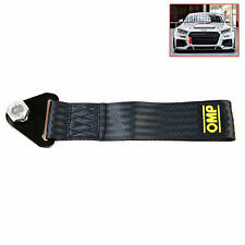 NEW Black High Strength Racing Tow Towing Strap Hook Front Rear Bumper Truck Car