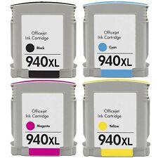 4 X Ink for HP 940XL C4906A C4907A C4908A C4909A Officejet Pro 8500 8500a