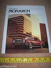 1978 Ford Mercury Monarch Vintage USA American Car Brochure excellent condition