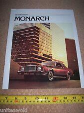 1978 Ford Mercury Monarch Vintage USA American Car Brochure excellent condition