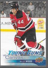 16/17 Upper Deck Canvas Young Guns Rookie Miles Wood C114 Devils