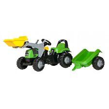 Rolly Toys Deutz-Fahr Lader mit Frontschaufel, Anhänger und Überrollbügel Tr