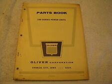 1954 OLIVER 199 SERIES POWER UNIT PARTS CATALOG/MANUAL SELDOM SEEN NICE!!