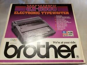 Brother GX-6500 Portable Electric Correcting Daisy Wheel Typewriter